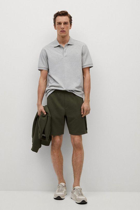 Mango Man - Polo tričko Rea šedá