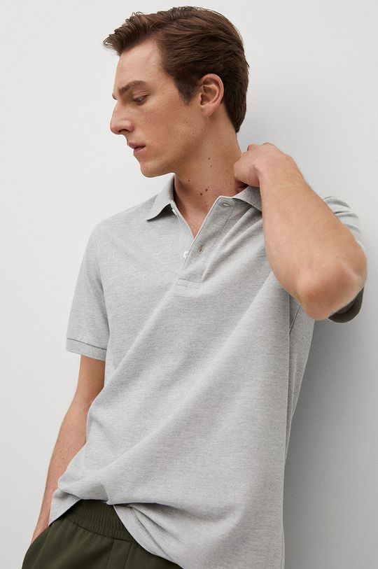 šedá Mango Man - Polo tričko Rea