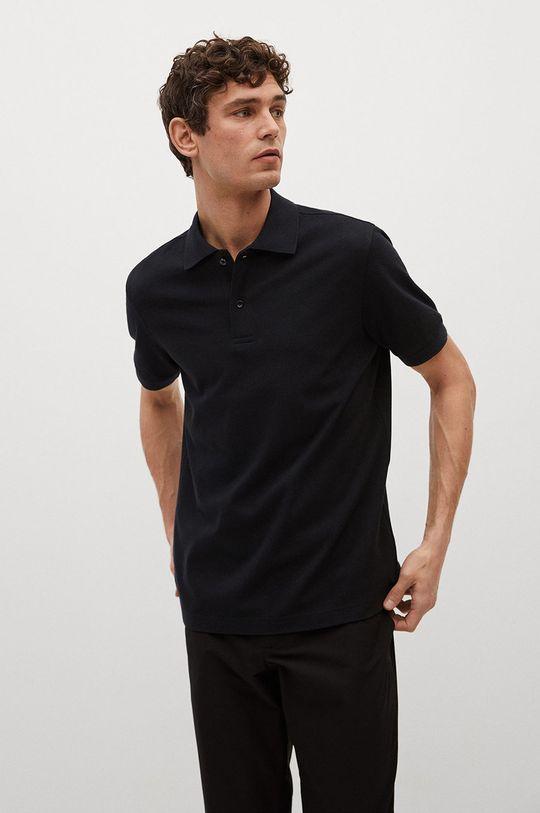 čierna Mango Man - Polo tričko Rea Pánsky