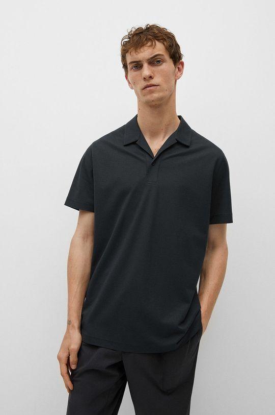 tmavomodrá Mango Man - Polo tričko Active Pánsky