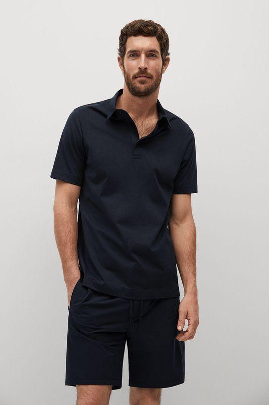 tmavomodrá Mango Man - Polo tričko Ezequi Pánsky