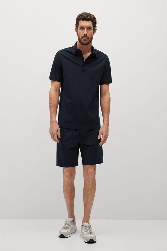 Mango Man - Polo tričko Ezequi tmavomodrá