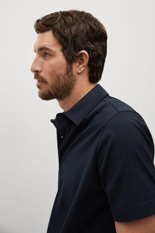 tmavomodrá Mango Man - Polo tričko Ezequi
