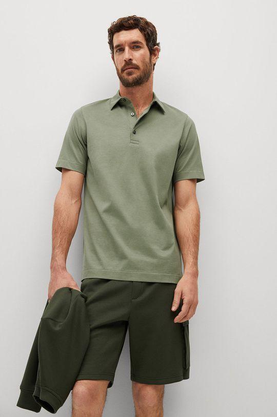 zelená Mango Man - Polo tričko Ezequi Pánsky