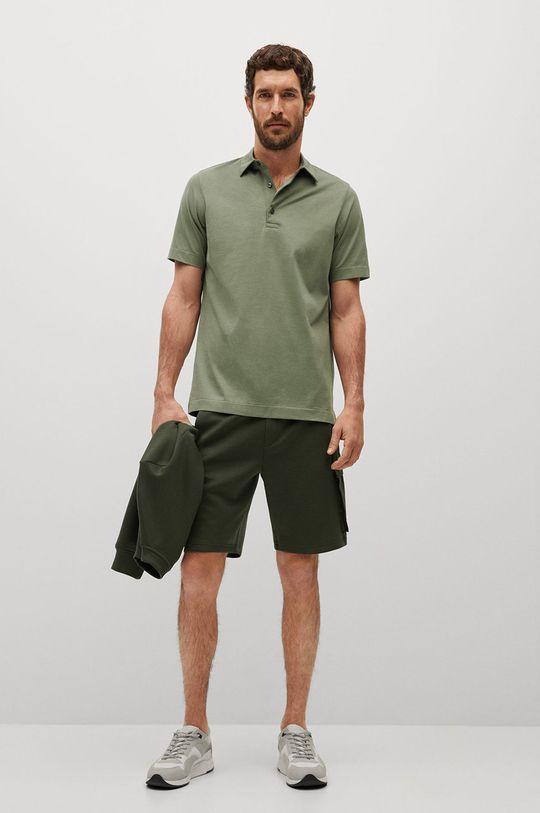 Mango Man - Polo tričko Ezequi zelená