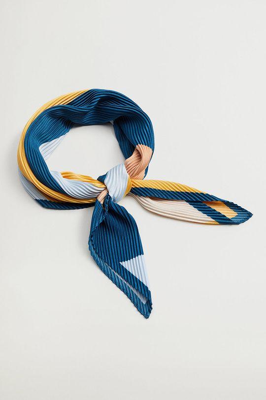 Mango - Šátek ABSTRACT světle modrá