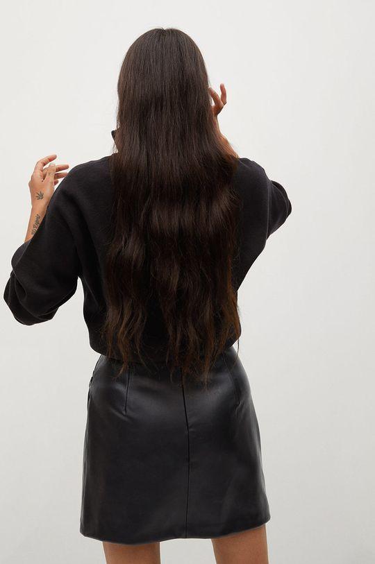 czarny Mango - Spódnica DRAPPY