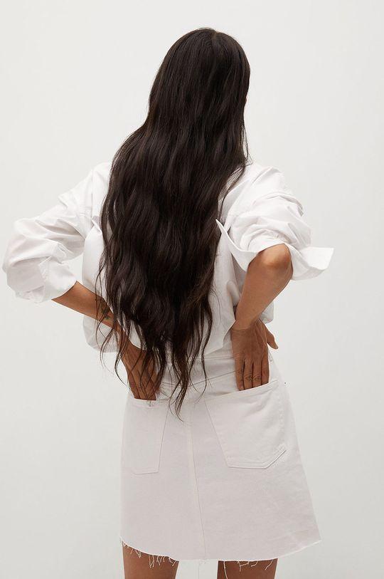 Mango - Rifľová sukňa Rachel  100% Bavlna