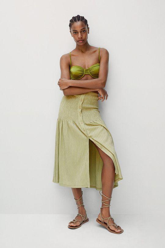 Mango - Sukně Sonia zelená