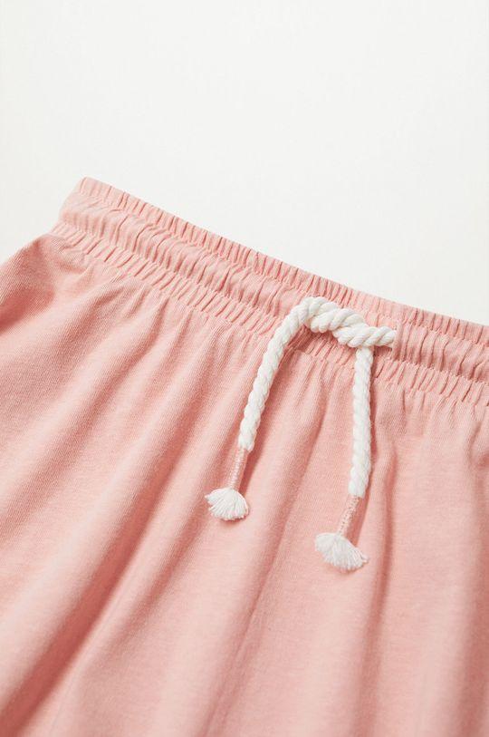 Mango Kids - Spódnica dziecięca Skaty8 116-164 cm pastelowy różowy
