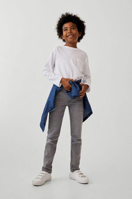 szary Mango Kids - Jeansy dziecięce Slim 110-164 cm Chłopięcy