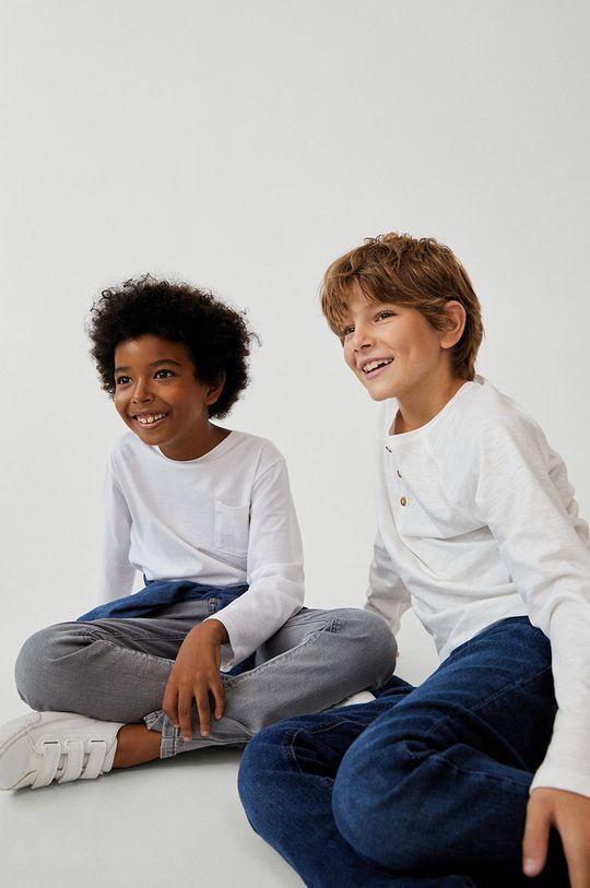Mango Kids - Jeansy dziecięce Slim 110-164 cm szary