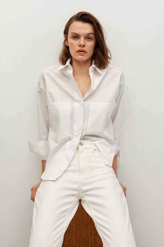 biały Mango - Jeansy MOM90