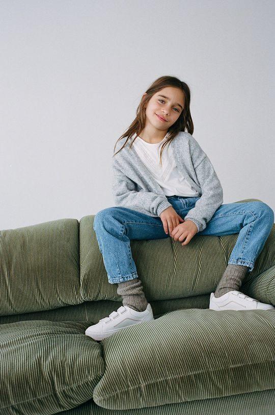 Mango Kids - Jeansy dziecięce SLOUCHY niebieski