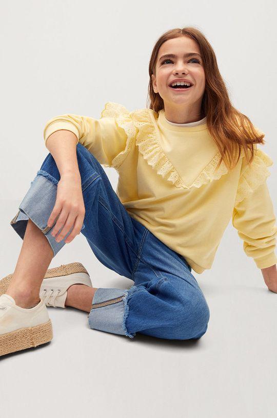 Mango Kids - Jeansy dziecięce BETTY 50 % Bawełna, 50 % Lyocell