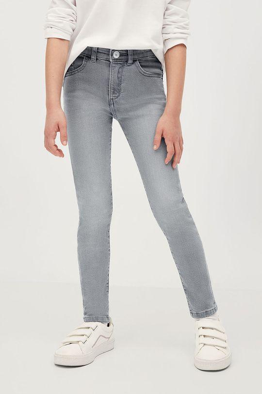 szary Mango Kids - Jeansy dziecięce Skinny 116-164 cm Dziewczęcy