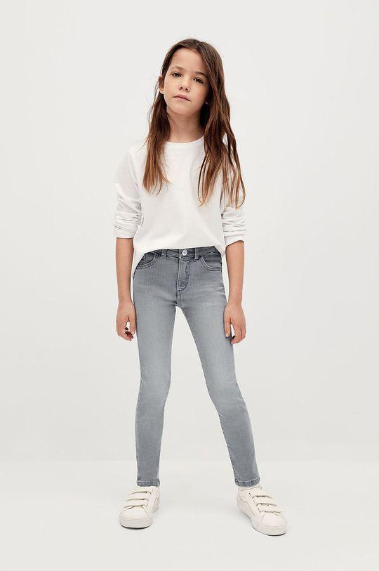 Mango Kids - Jeansy dziecięce Skinny 116-164 cm szary