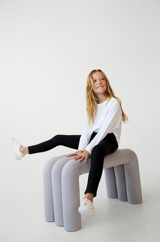 Mango Kids - Jeansy dziecięce Skinny 134-164 cm Materiał zasadniczy: 98 % Bawełna, 2 % Elastan, Podszewka kieszeni: 35 % Bawełna, 65 % Poliester