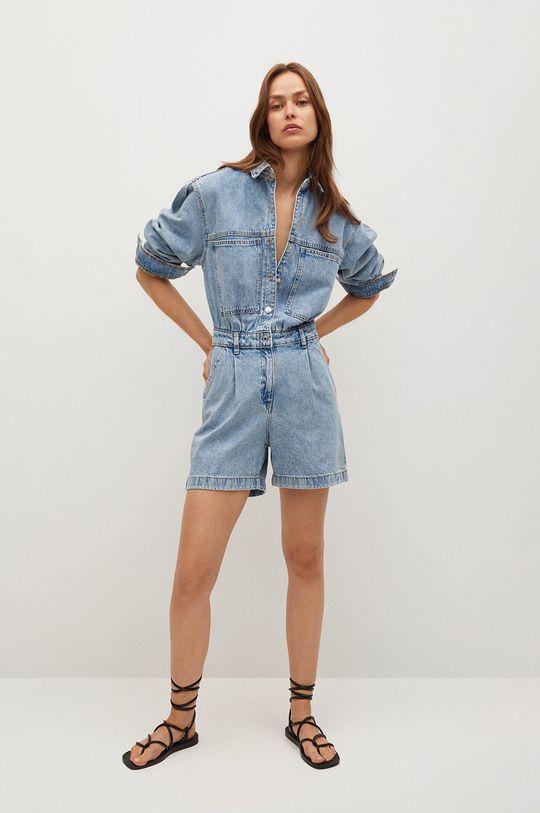 Mango - Kombinezon jeansowy Regina niebieski