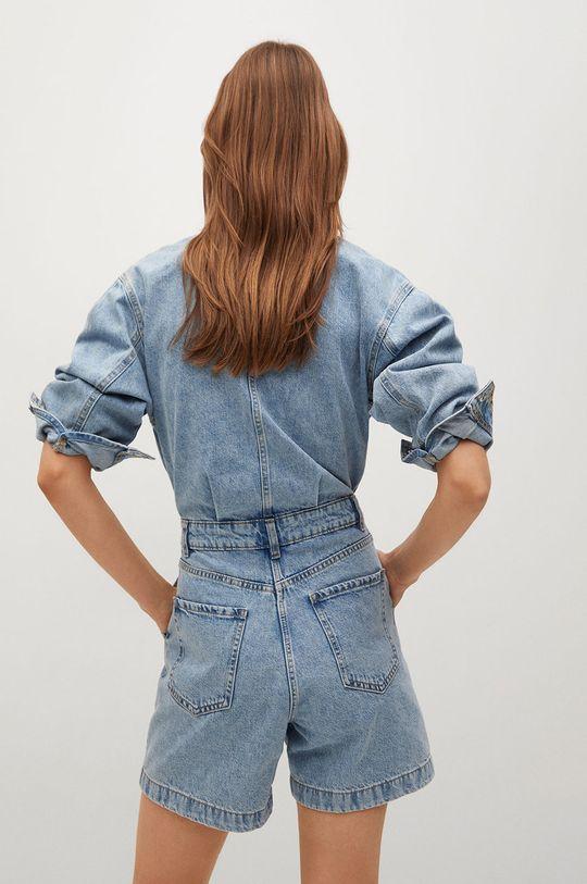 Mango - Kombinezon jeansowy Regina 100 % Bawełna