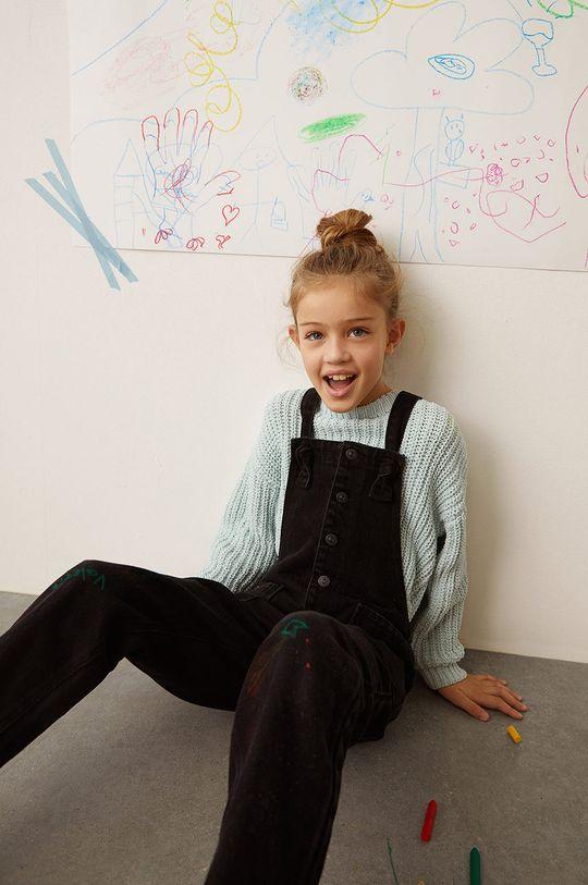 Mango Kids - Dětské kalhoty na šle MARINE šedá