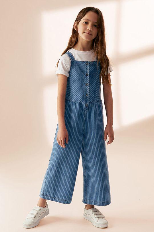 niebieski Mango Kids - Ogrodniczki dziecięce ESTER Dziewczęcy