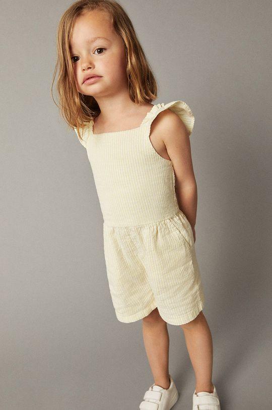 žlutá Mango Kids - Dětský overal Lola 80-110 cm Dívčí