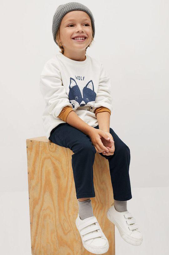 granatowy Mango Kids - Spodnie dziecięce CHINO8 Chłopięcy