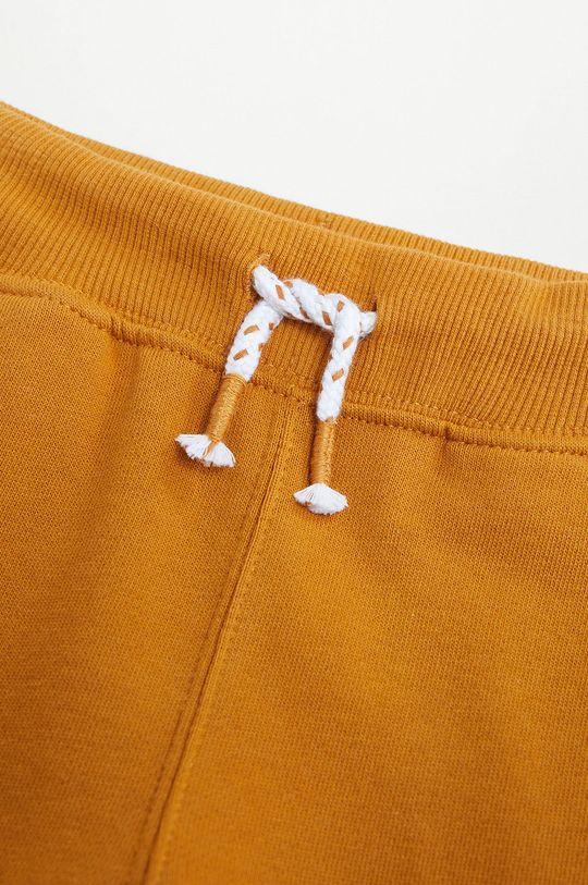 Mango Kids - Spodnie dziecięce MATEOP7 musztardowy