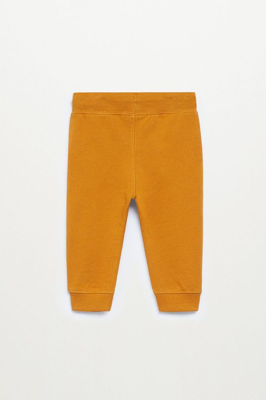 musztardowy Mango Kids - Spodnie dziecięce MATEOP7