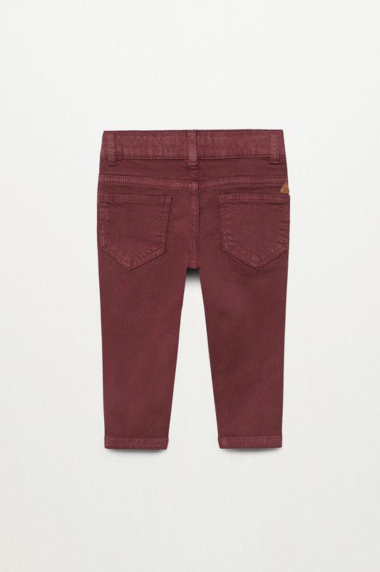 gaštanová Mango Kids - Detské nohavice CORD8