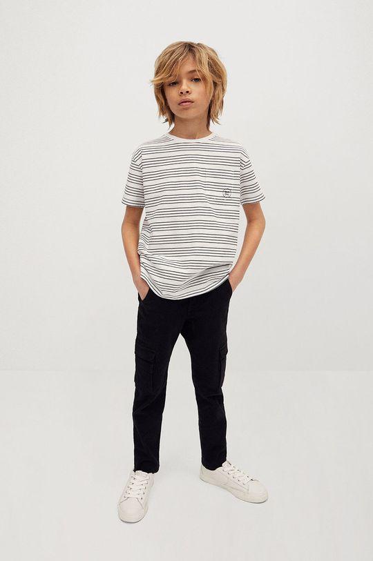 Mango Kids - Spodnie dziecięce ALEX czarny