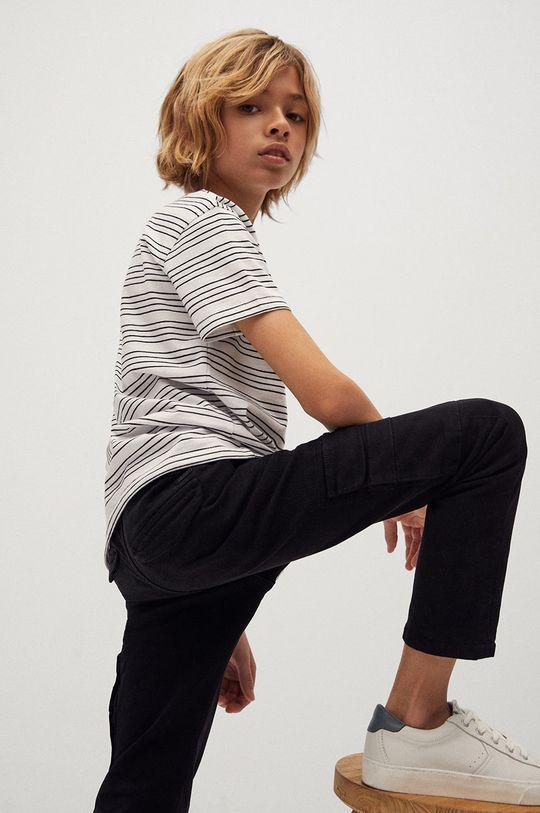 Mango Kids - Spodnie dziecięce ALEX Materiał zasadniczy: 98 % Bawełna, 2 % Elastan, Podszewka kieszeni: 100 % Bawełna