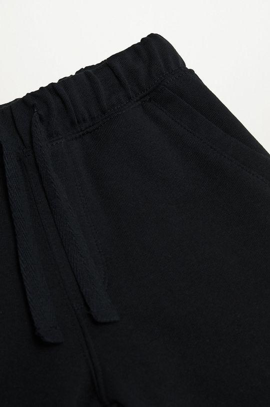 Mango Kids - Spodnie dziecięce RYAN czarny