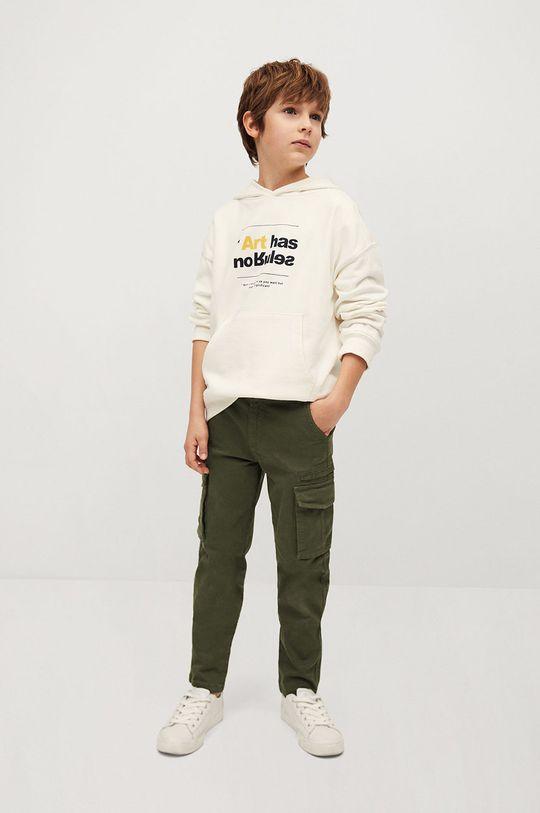 Mango Kids - Spodnie dziecięce Stuart 110-164 cm złoty brąz