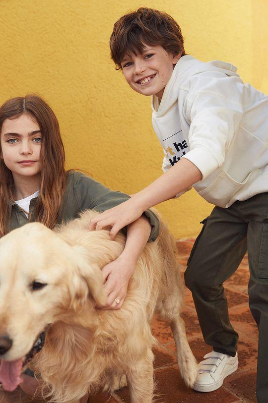 Mango Kids - Spodnie dziecięce Stuart 110-164 cm 98 % Bawełna, 2 % Elastan