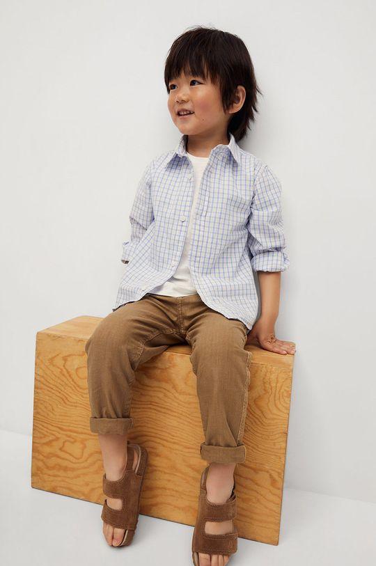 Mango Kids - Spodnie dziecięce Yucca 80-104 cm cielisty