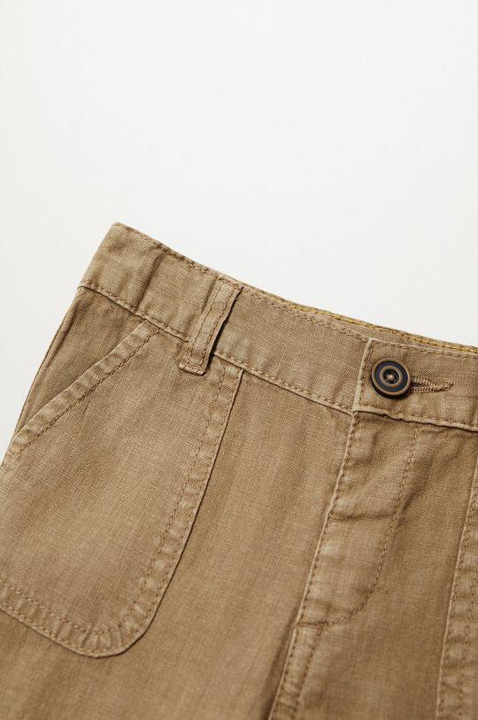 Mango Kids - Spodnie dziecięce Yucca 80-104 cm 45 % Bawełna, 55 % Len