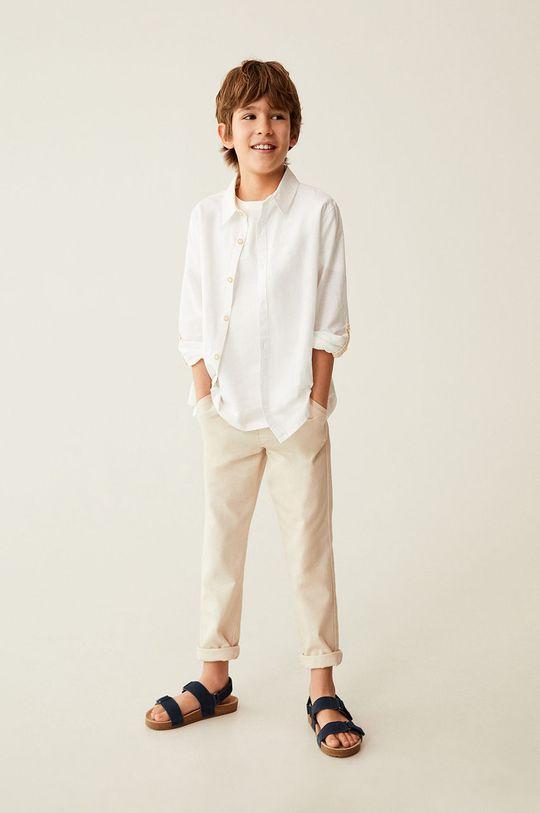 Mango Kids - Spodnie dziecięce Nico 110-164 cm cielisty