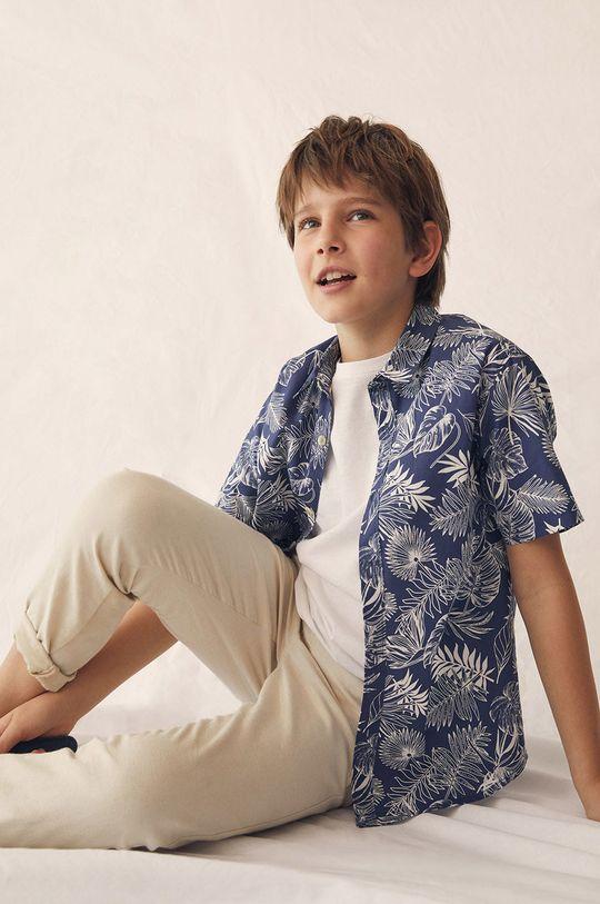 Mango Kids - Spodnie dziecięce Nico 110-164 cm 92 % Bawełna, 8 % Len
