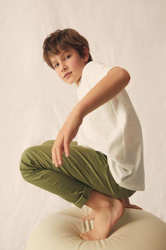 złoty brąz Mango Kids - Spodnie dziecięce Franky 110-164 cm Chłopięcy