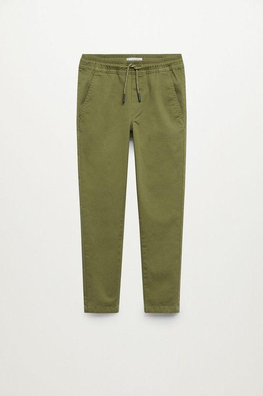 Mango Kids - Spodnie dziecięce Franky 110-164 cm złoty brąz