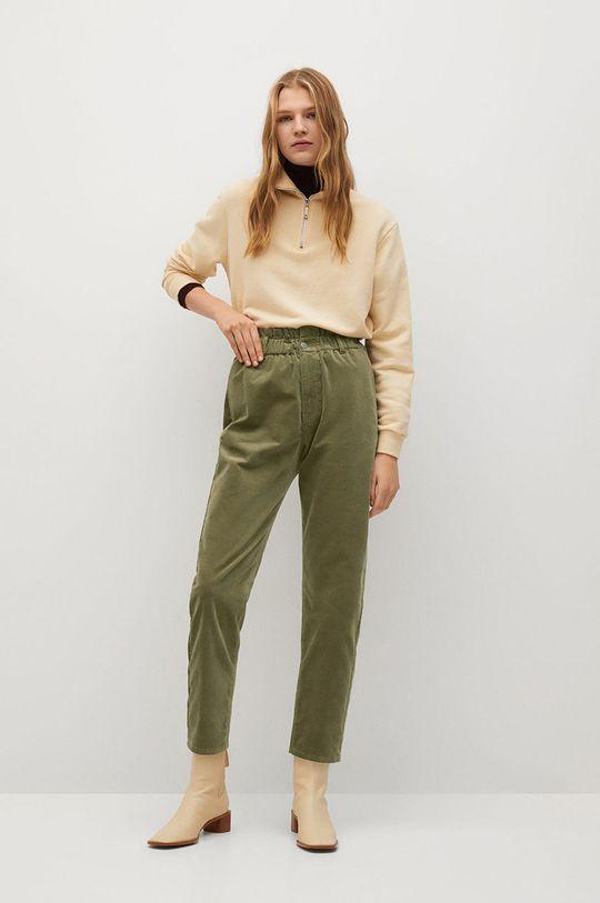 Mango - Kalhoty PEPE zlatohnědá
