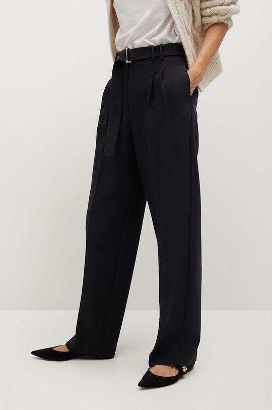 czarny Mango - Spodnie CLAUDI Damski