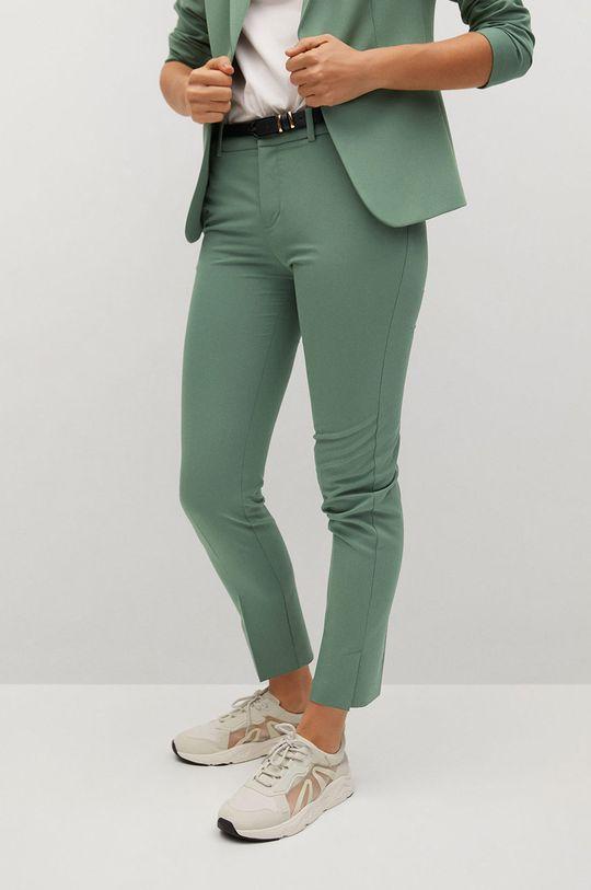 zelená Mango - Kalhoty BOREAL Dámský