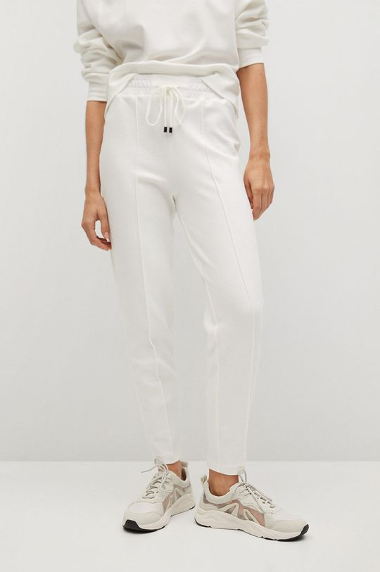 biały Mango - Spodnie PIQUE8 Damski