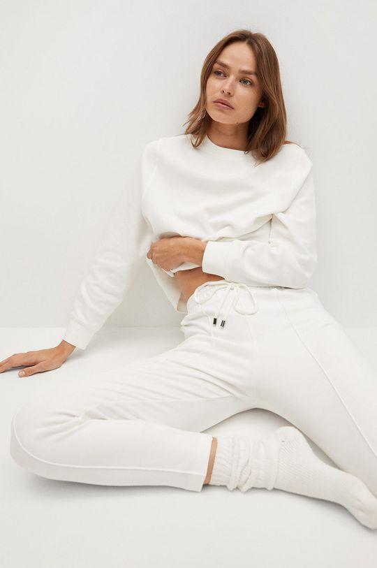 biały Mango - Spodnie PIQUE8