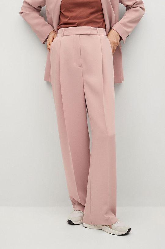 růžová Mango - Kalhoty Marina Dámský
