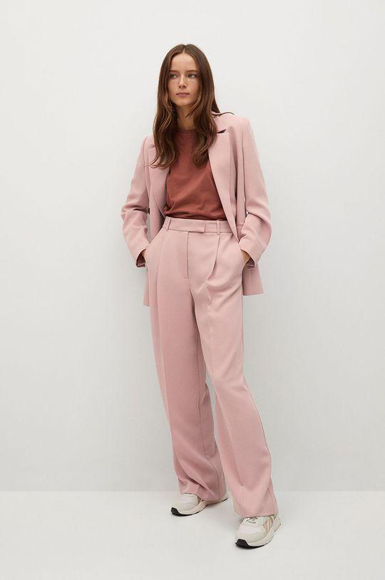 Mango - Kalhoty Marina růžová