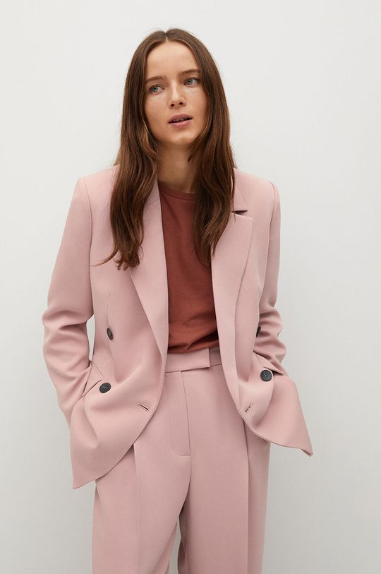růžová Mango - Kalhoty Marina